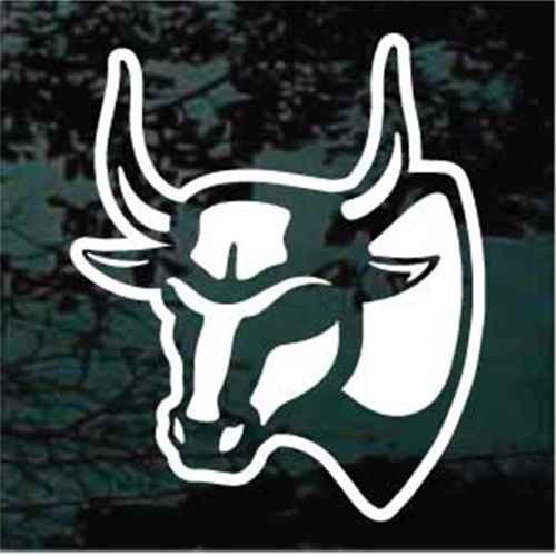 Bull Head Mount Window Decals