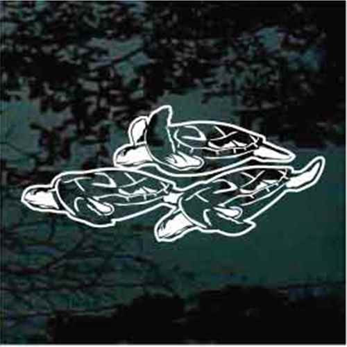 Group Of Sea Turtles Swimming Window Decals