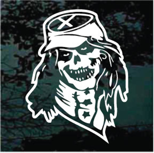 Confederate Skull Window Decal