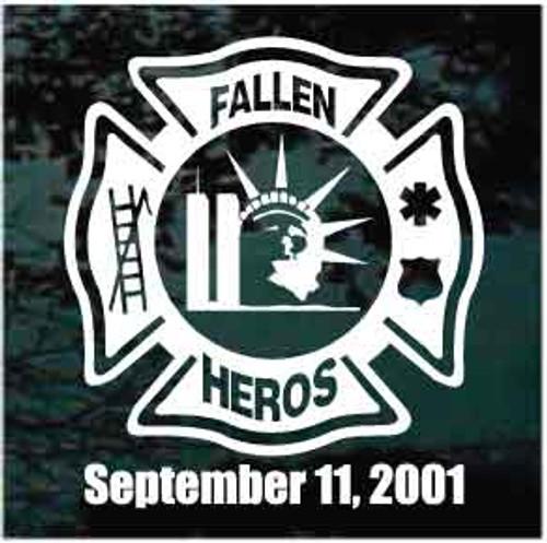Fallen Heroes Memorial Window Decal