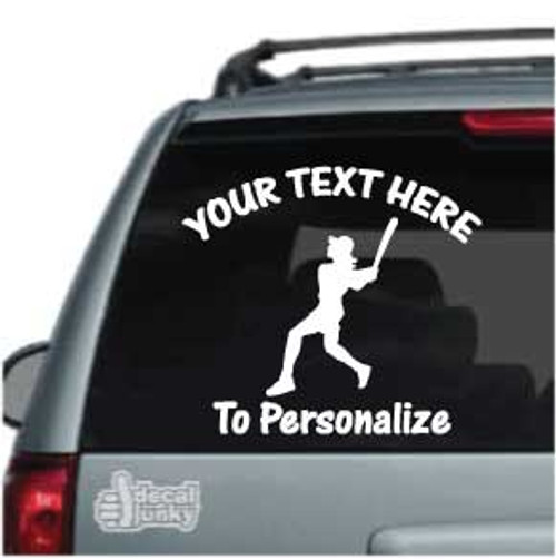 Classic Softball Batter Car Decal
