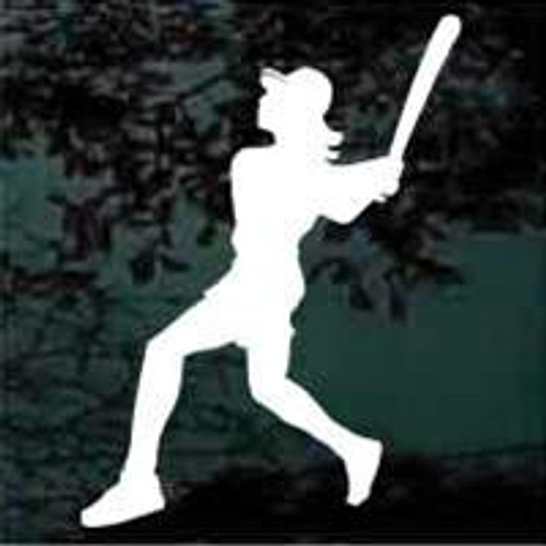 Classic Softball Batter Window Decal