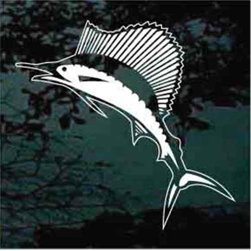 Detailed Marlin Fish Window Decals