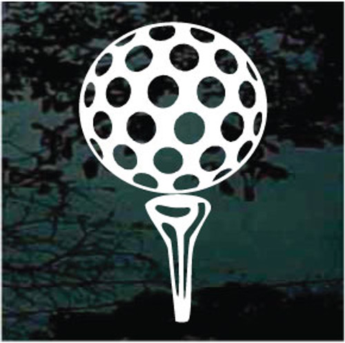 Golf Ball On Tee Decals
