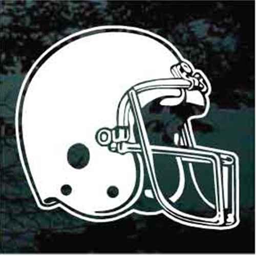 Detailed Football Helmet Window Decals