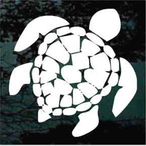 Detailed Hawaiian Turtle Window Decals