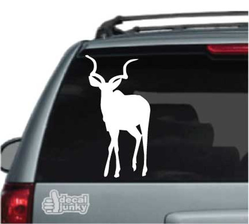 Antelope Standing Silhouette Car Decal