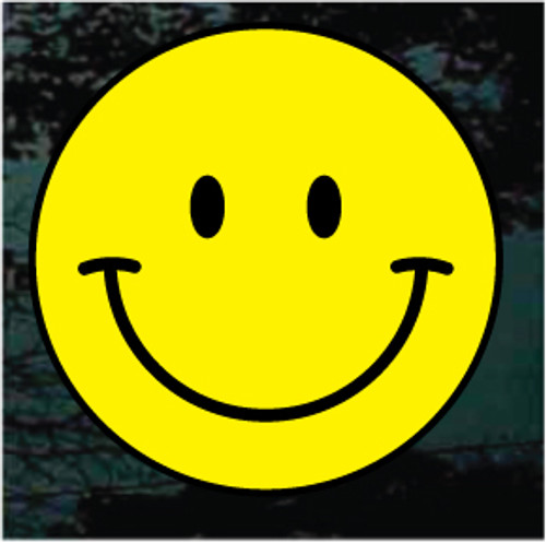 Smiley Face 01 Yellow on Black
