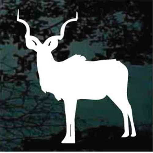 Antelope Facing Silhouette Window Decals
