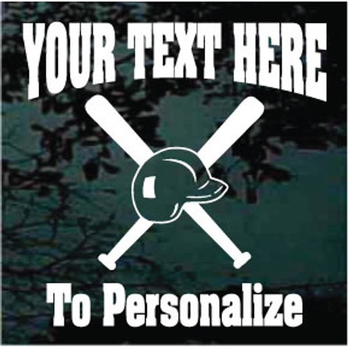 Softball Helmet & Bats Rockwell Text