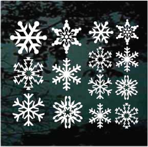 Assorted Snowflakes Decals