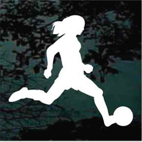 Girl Soccer Player Silhouette Decals