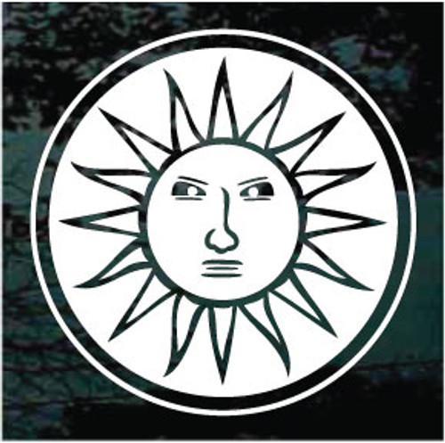 Round Celestial Sun Window Decals