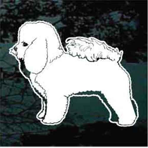 Bichon Frise Standing Window Decal