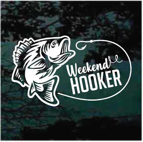 Weekend Hooker Bass Fishing Decals
