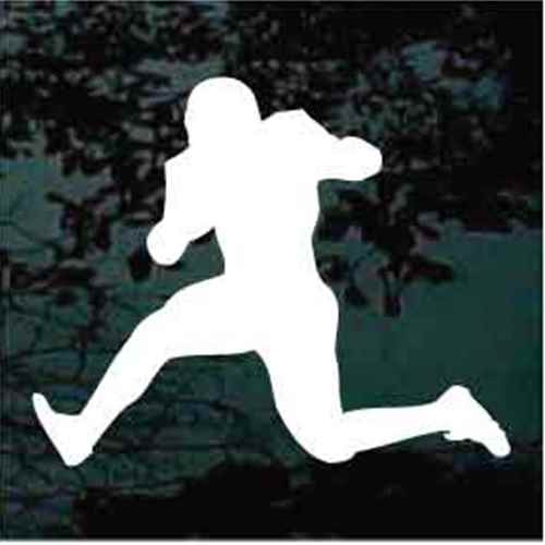 Classic Football Player Running Window Decal