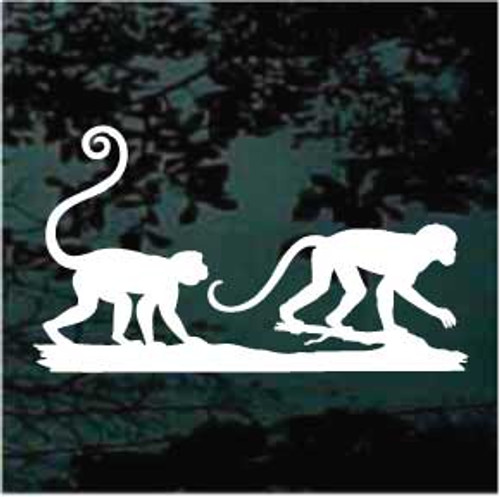 Cute Monkey Silhouette Decals
