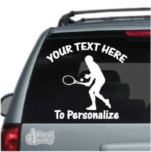Male Tennis Player Car Decal