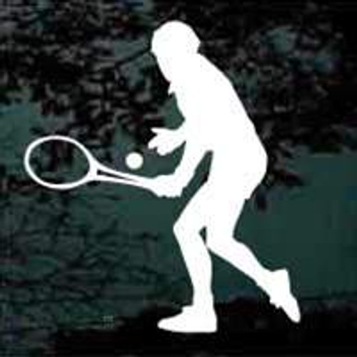 Male Tennis Player Window Decal