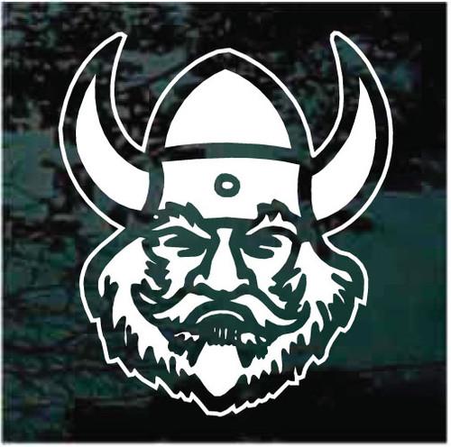 Vikings Mascot Face Decals