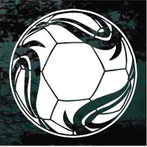 Abstract Soccer Ball Decals