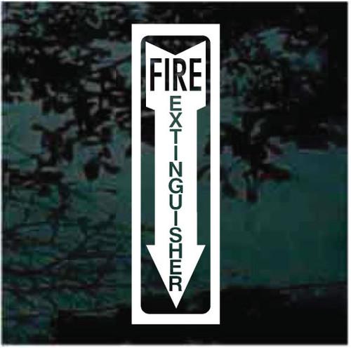 Fire Extinguisher Arrow Sign Window Decals