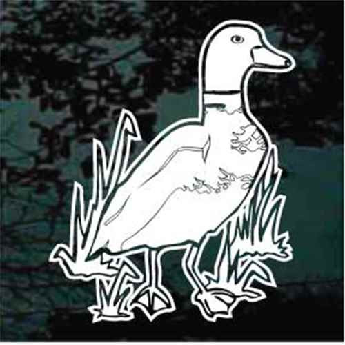 Duck In Grass Window Decals
