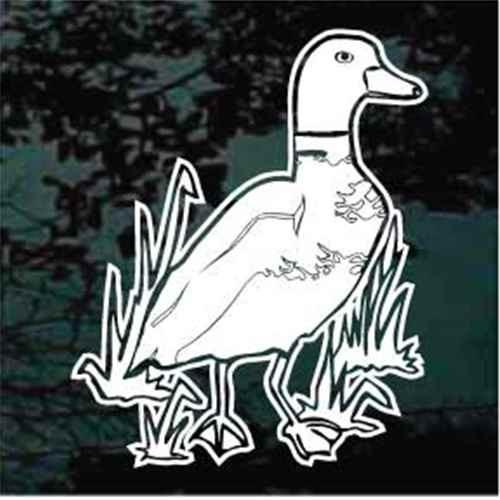 Duck In Grass Window Decals
