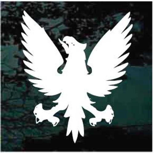 Black Heraldic Eagle Window Decals