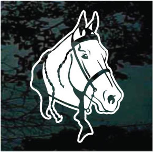 Gaited Horse Head Decals