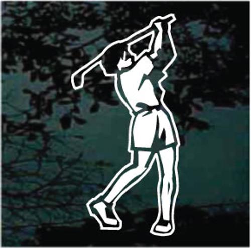 Golfer Swinging Golf Club Decals