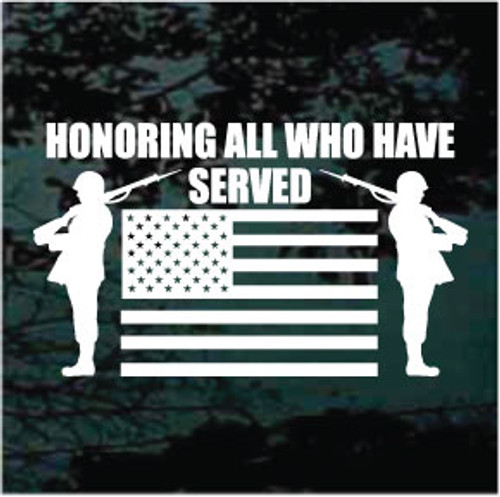 Honoring All Who Have Served Window Decals