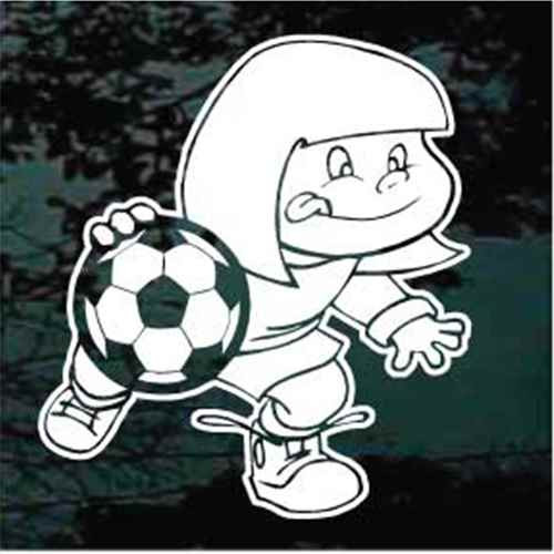 Girl Soccer Player Decals