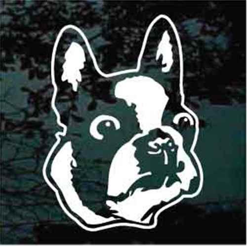 Boston Terrier Head Window Decals