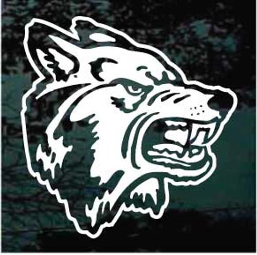 Snarling Wolf Head Window Decals