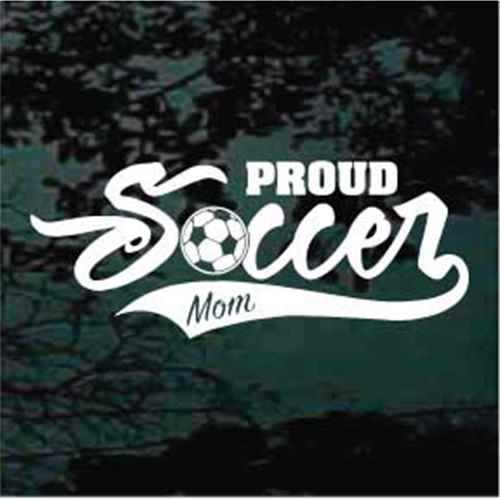 Proud Soccer Mom Sports Tail Decals