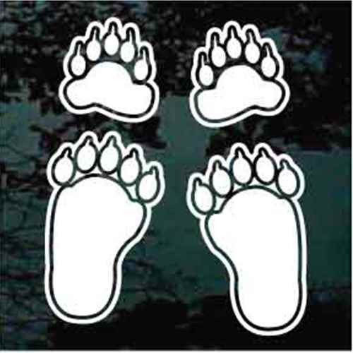 Bear Paw Car Decals