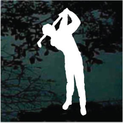 Golfer Silhouette Decals