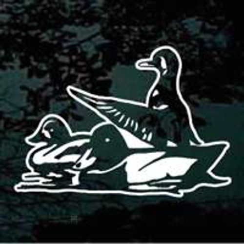 Three Ducks Sitting In The Water Window Decals