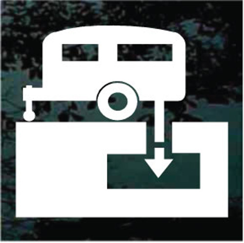 Camper Trailer Sewage Dump Sign