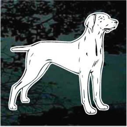 Weimaraner Dog Stance Decals