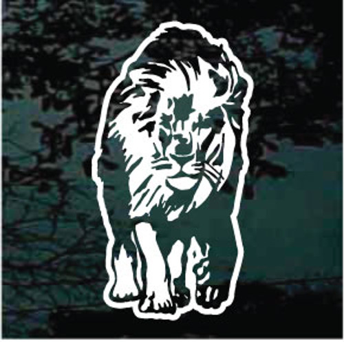 Lion Approaching Window Decals