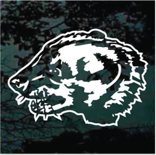 Badger Mascot Profile Decals