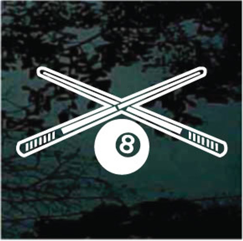 Pool Cues & Eight Ball Decals
