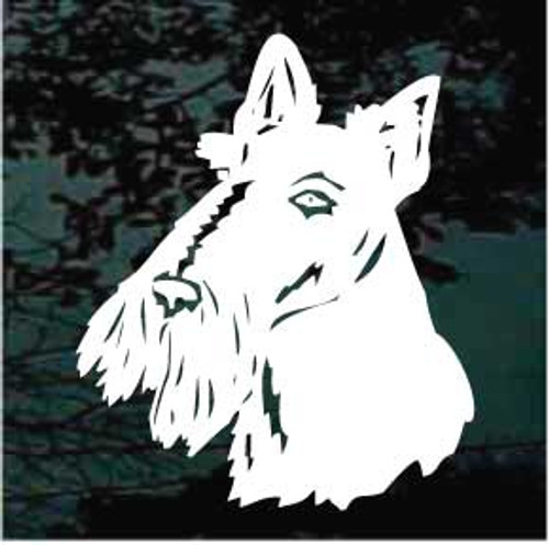 Scottish Terrier Head 01 Window Decal