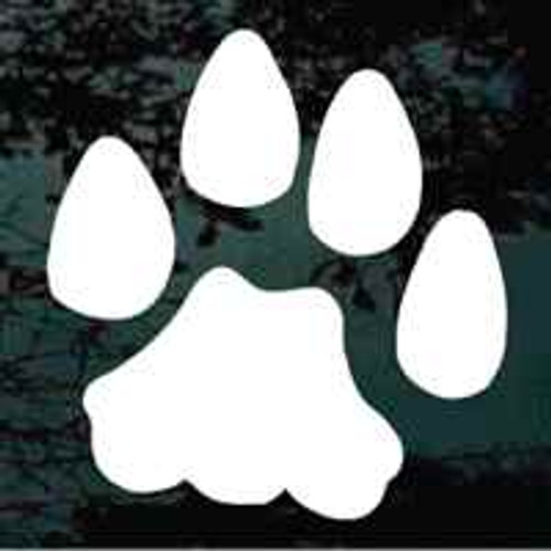 Single Bobcat Track Decals
