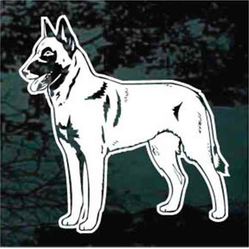 Belgian Malinois Standing Window Decal