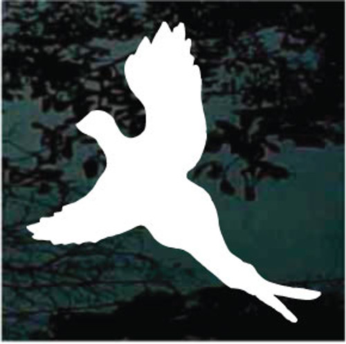 Pheasant Flying Silhouette