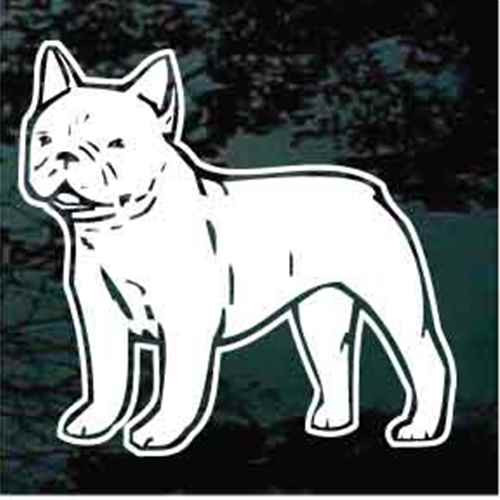French Bulldog Standing Window Decal