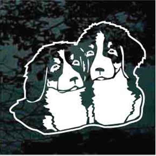 Bernese Mountain Dog Puppies Window Decal